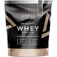 Marchio Amazon - Amfit Nutrition Mix di proteine Whey del siero di latte gusto Cookies & Cream, 32 porzioni,  990 g