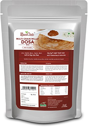 The Spice Club Multi Grain Millet Dosa Mix 1 kg ( Low GI Food, No Preservative ,100 % Natural )