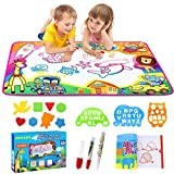 Phyles Water Magic Doodle Mat, 6 Colors Drawing Painting Doodle Pad Water Writing Board with 3 Magic Pens, Educational Toy & Birthday Gift For Kids