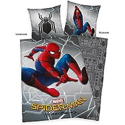 Herding Spiderman Home Coming–Juego de Cama, algodón, algodón, Multicolor, 140 x 200 cm