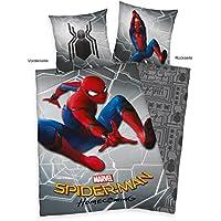Herding  Spiderman Homecoming Bettwäsche-Set, Baumwolle, mehrfarbig, 140 x 200 cm