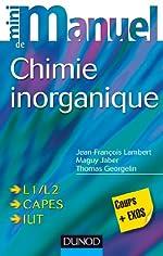 Mini manuel de Chimie inorganique de Jean-François Lambert