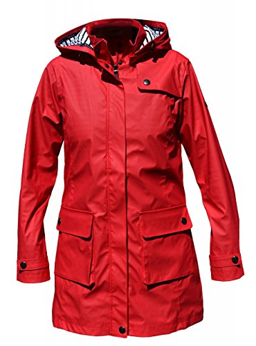 Batela Damen Regenmantel 3/4 Länge, Farbe:rot, Größe:40