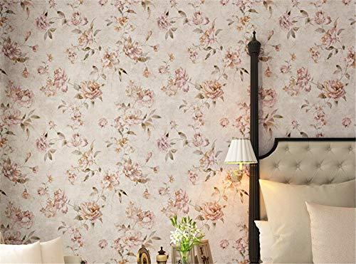 KYKDY New high-end amerikanischen garten blume schlafzimmer wohnzimmer tapete Retro gelb dicken vlies papel de parede, 99603