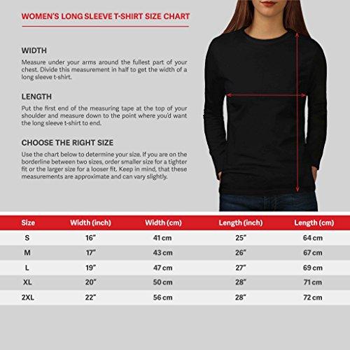 Kopf Kunst Artikel Fantasie Damen S-2XL Langarm-T-Shirt | Wellcoda Black
