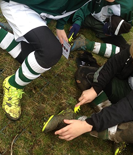 Bootclaw - the pocket mud scraper for football boots with a built in stud key. Perfect for the kids' bootbag! (neon)