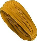 Harrys-Collection Damen Mädchen Haarband in 14 Unifarben, Kopfgröße:Einheitsgröße, Farben:senf