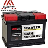 LANGZEIT Autobatterie 12V 63Ah ersetzt 60Ah 54Ah 55Ah 56Ah 62Ah 65Ah