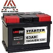 LANGZEIT Batterien LZ56358, LANGZEIT Autobatterie 12V 63Ah ersetzt 60Ah 54Ah 55Ah 56Ah 62Ah 65Ah