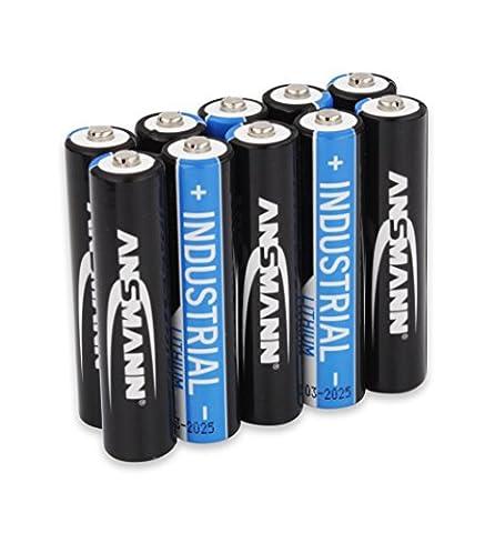 Piles Lithium Aaa - ANSMANN Pile Industrielle au Lithium - 1,5V