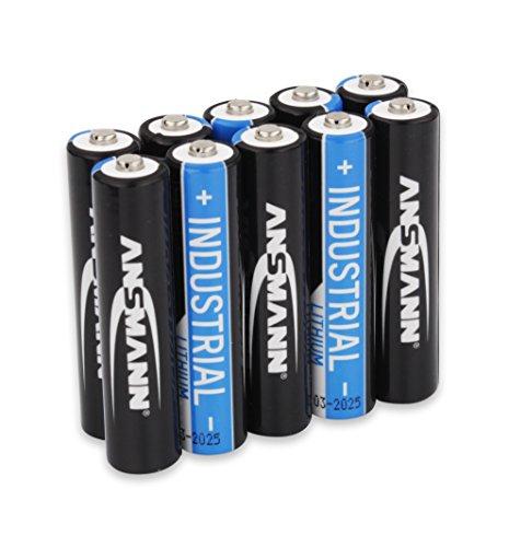 Galleria fotografica ANSMANN Lithium Industrie Batterie AAA Micro - FR03 | L92 | LR03 | 1200mAh | 1.5V - Alta capacità, estremamente leggera - potenza + 700% in piu e 35% piu leggere di Alkaline