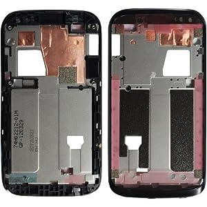 Original HTC A-Cover / Frontcover für HTC Desire V - black / schwarz (Vorderseite) - 74H02212-01M