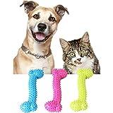 ODJOY-FAN Haustier Spielzeug Stimme Gummi Knochen Hunde Spielzeug Gummi Molar Zahn Knochen Spielzeug Hunde Beißen Beständig Molaren Ausbildung 10 * 3,5 * 2 cm(Random,1 PC)