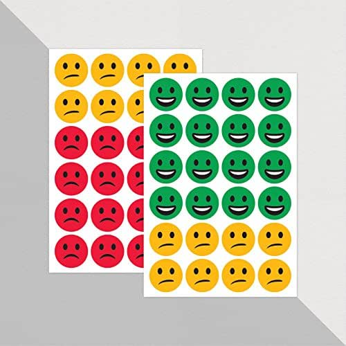 Green, Amber and Red Emoji Faces for Marking x 48 // Teacher Stickers