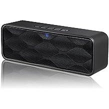 ZoeeTree S1 - Altavoz Bluetooth Inalámbrico, Altavoz Estéreo Portátil para Exteriores con Audio HD y Graves Mejorados, de Doble Controlador Integrado, Bluetooth 4.2, Llamadas Manos Libres, Radio FM y Ranura para Tarjetas TF, Negro