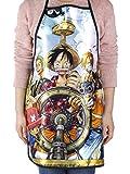 CoolChange Delantal con el Tema de One Piece: la tripulación de los Piratas Sombrero de Paja
