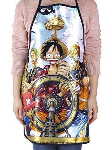 CoolChange Delantal con el Tema de One Piece: la Tripulación de los P