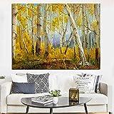 RTCKF Abstrakte Herbst Wald Berg Landschaft Moderne leinwand malerei HD Druck wandbild für...