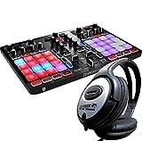 Hercules P32 DJ Controller Performance Mixer + KEEPDRUM Kopfhörer