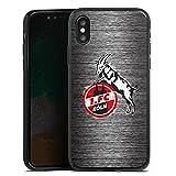 DeinDesign Apple iPhone X Silikon Hülle Case Schutzhülle 1. FC Köln Metall Look Fussball
