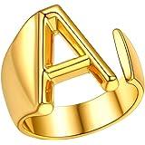 FindChic Anelli con Lettera Placcato Oro Donna Uomo Anello Donna con Iniziale Anello Donna con Iniziale