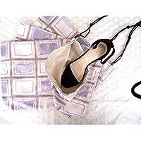 Handmade set of 3 travel drawstring unisex shoe bags, Lingerie laundry bag