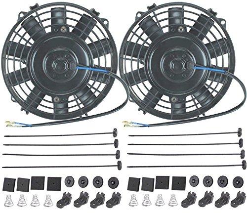 American Volt Dual 17,8cm Zoll Elektrische Fans 12Volt ATV Auto Motor Kühlung Fan 80W Motor 1200CFM