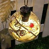 Homclo weihnachtskugeln leuchtend weihnachtsbaum lampen weihnachtsbeleuchtungkugelform kreativer Weihnachtenschmuck Kugellampe Kugelleuchte für Weihnachten,Weihnachtsbaum, Tannenbaum (Muster 1)