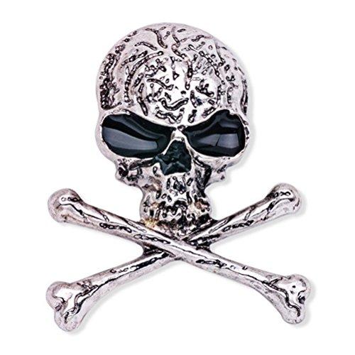 Broche de huesos del cráneo Broche de esqueleto gótico punk con...