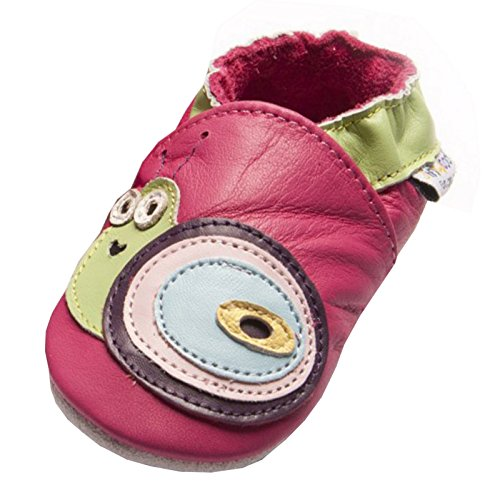 Jinwood designed by amsomo Snail Fuchsia - Soft Sole, EU 24/25 (Wildleder Fuchsia Kinder Schuhe)