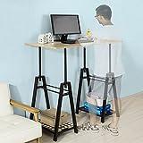 SoBuy FWT32-N Höhenverstellbarer Schreibtisch Sitz-Stehtisch Computerschreibtisch Bürotisch Arbeitstisch Höhe:72-117cm - 5