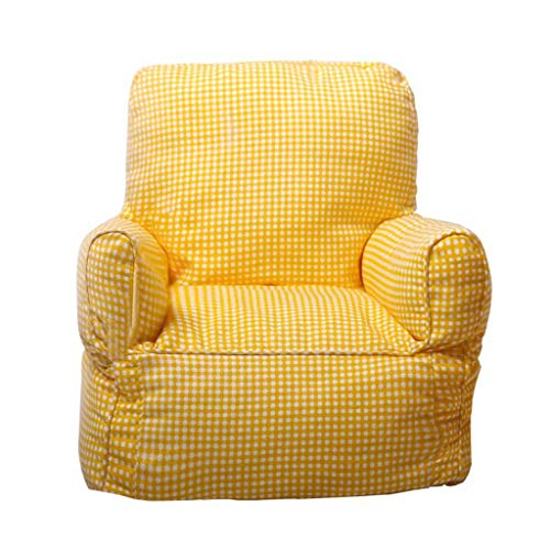 Kinder Kinder Gepolsterte Sessel Stoff Sitzsack Tragbare Kissen Geeignet für Kindermöbel Im Raum Faule Stuhl Multi-Color-Auswahl (Color : White, Size : 13.7 * 13.7 * 16.5IN) -
