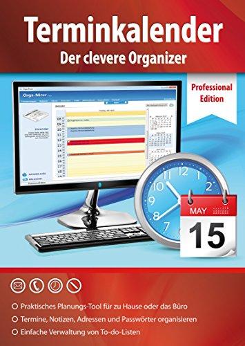 Terminkalender Professional Edition - der clevere Organizer und Adressbuch für zu Hause und Büro - Terminplaner Software - Windows 10 / 8.1 / 8 / 7 / Vista