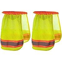 STOBOK 2 Piezas Casco Protector para El Sol Protector para El Cuello Malla de ala Completa con Franja Reflectante Protector de Sombra para El Sol del Cuello del Casco de Alta Visibilidad