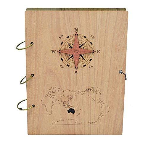 Giftgarden Álbum de Fotos del Viaje de Cristóbal Colón Libro de Fotos de Madera con 120 Pics.13x18