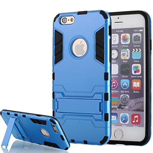 [iPhone 5 hülle] Lantier [High-Quality] [Perfect Fit] [Tire Design Haut] 2 in 1 Combo Rugged Dual Layer [Heavy Duty-Kasten] Abnehmbare Seitenständer [Protective Shell] [Hard Case] ??für iPhone 5 / 5S- blau