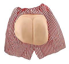 Idea Regalo - Lovelegis Boxer Pantaloncini con Sedere Finto Travestimento Carnevale Halloween Cosplay Divertente Uomo Donna Unisex