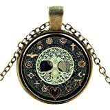 Ultra ® Mystical symbole style Classic unisexe steampunk collier grand style unisexe gothique cosplay Vintage Cyber hommes femmes bijoux cosplay crânes rouages designs