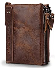 Contacts Brown Leather Men's RFID Blocking Wallet
