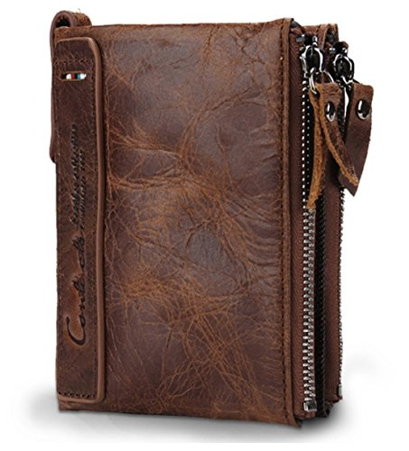 7. Contacts Brown Leather Men's RFID Blocking Wallet