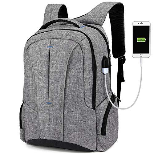 Laptop Rucksack 17,3 Zoll Notebook Rucksack mit vielen Taschen und Fächern,Anti Diebstahl Rucksack USB-Ladeanschluss Computer Schulrucksack Daypack für Herren und Damen (8231)