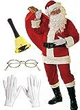 Herren-Kostüm Santa Claus - Super Set - 12-teilig, Größe:XXL