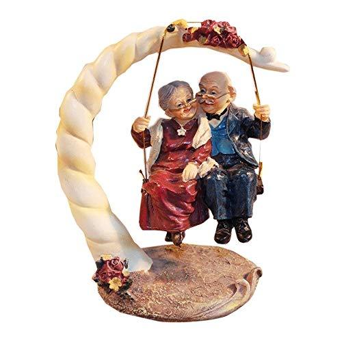 Nosterappou Schaukel älteres Ehepaar Statue Dekoration, Hochzeitstag Geschenk, ältere Geschenk, einzigartiges Geschenk für jeden Urlaub oder Anlass