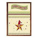 XWArtpic Nordic Poster Weihnachtsbaum Schneemann Geschenk Landschaft Wandkunst Leinwand Malerei Poster Und Drucke Wandbilder Für Wohnzimmer Dekor 60 * 80 cm