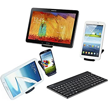 Sharon - Clavier en aluminium pour les Smartphones & Tablettes de Samsung - Samsung Galaxy S4, Galaxy Tab 3 P5200 P8200 - Mise en page AZERTY français
