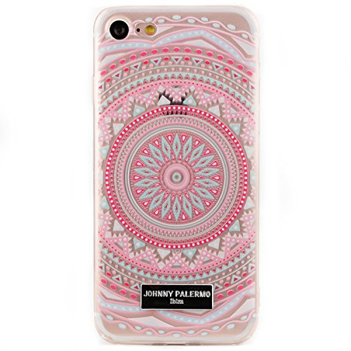 Arktis iPhone 8 / 7 Mandala Dreamcatcher Traumfänger Case Silikon Tpu Hülle Cover SoftCase - Pink delight Pink delight