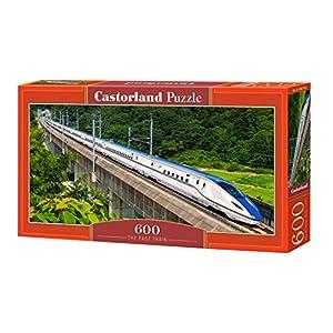 CASTORLAND The Fast Train 600 pcs Puzzle - Rompecabezas (Puzzle Rompecabezas, Vehículos, Niños y Adultos, Niño/niña, 9 año(s), Interior)