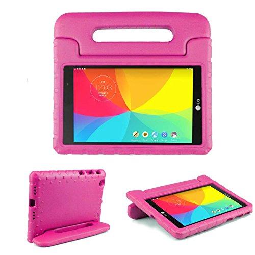 LG G Pad X 8.0 Hülle, [2-in-1 Griffige Tragehülle & Stand] Cooper Dynamo Robuste Strapazierfähige Sturz- und Kindersichere Hülle + Stand & Displayschutz -Jungs Mädchen Erwachsene Ältere Pink