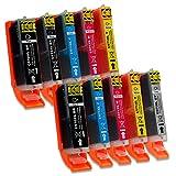 10 Druckerpatronen mit Chip und Füllstandsanzeige kompatibel zu Canon PGI-570 / CLI-571 (2x Schwarz breit, 1x Schwarz schmal, 2x Cyan, 2x Magenta, 2x Gelb, 1x Grau) passend für Canon Pixma Drucker MG-7700 MG-7750 MG-7751 MG-7752 MG-7753 TS-8000 TS-8050 TS-8051 TS-8052 TS-8053 TS-9000 TS-9050 TS-9055