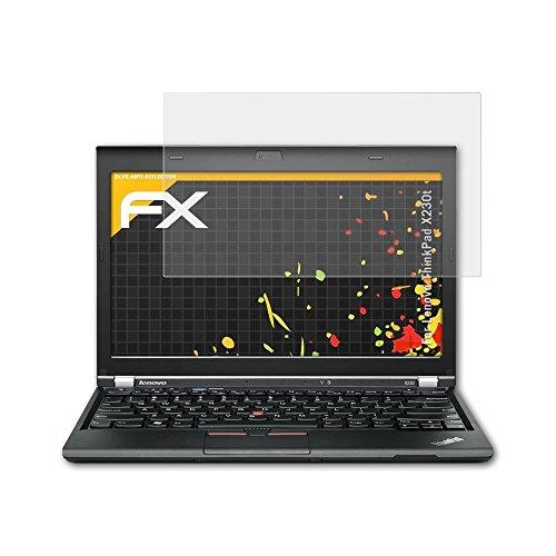 atFolix Panzerfolie kompatibel mit Lenovo ThinkPad X230t Schutzfolie, entspiegelnde & stoßdämpfende FX Folie (2X)